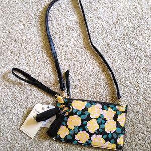 Amelie branco floral purse